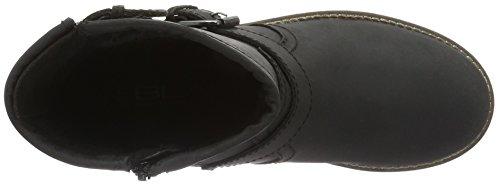 Unbekannt Leder-Stiefelette, Botines para Mujer Negro - Schwarz (000 BLACK LD)