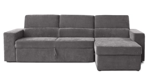 Gray/Green Clubber Sleeper Sectional Sofa – Right Chaise