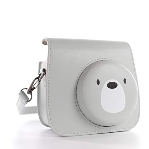 QUEEN3C Mini 9 Camera Case with Adjustable Strap Compatible for Fujifilm Instax Mini 9 8 8+ Instant Camera (Cute bear)