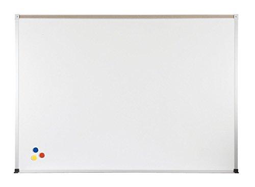 Marsh Pr404-1461-6100 Pro-Rite 48'' X 48'' White Porcelain Markerboard, Standard Aluminum Trim / 1'' Map Rail by Marsh