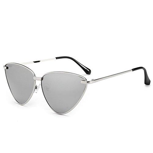 Mujer Gold Sol Gafas Sol De Océano Gafas Tono De Silver Eye De Gafas Limotai Lente Gafas Transparente Solcat'S Negro De Mujer qCpCBw