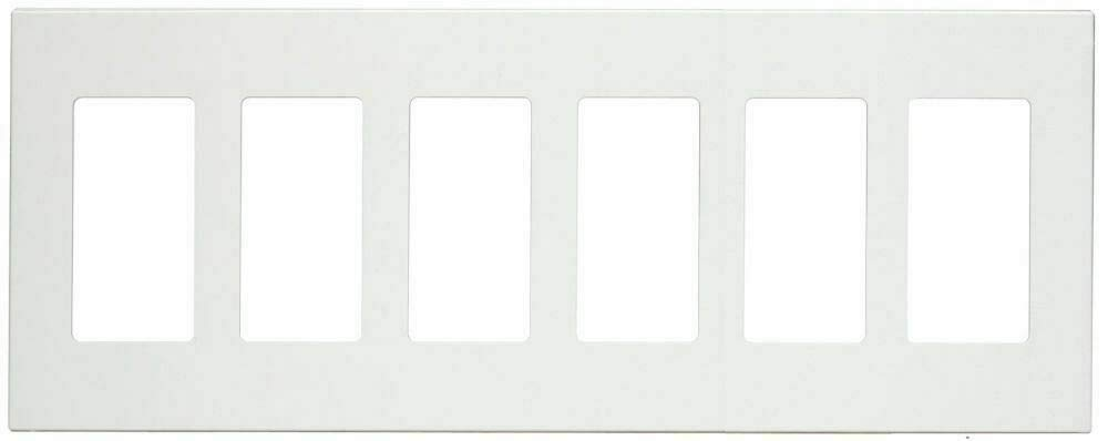 DECORA GFCI SWITCH PLUG WALL SCREWLESS PLASTIC COVER PLATE 1 2 3 4 5 6 GANG WHITE (6 Gang)