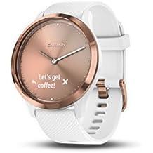 Garmin vívomove HR Sport Hybrid Smartwatch - Rose Gold, S/M