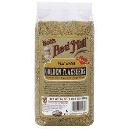 Bob's Red Mill, Natural Raw Whole Golden Flaxseeds, 24 oz (680 g)(pack of 3)