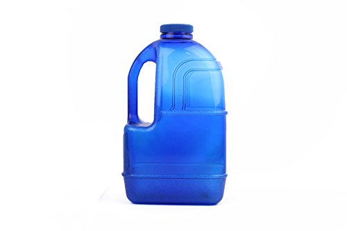 H8O 1 Gallon Square BPA Free Water Bottle with 48mm Cap (Blue)