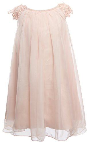 Mrprettys Blush Chiffon Flower Girl Dress Girls Toddler Party Dress