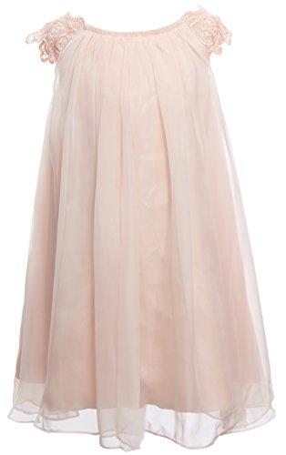 Mrprettys Ivory Blush Chiffon Flower Girl Dress Girls Toddler Party Dress (3T, Blush)