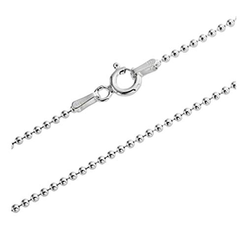1pc Top Quality 16 Inch Sterling Silver 1.0mm Ball Link Necklace Chain Dainty Cute w/Clasp for Jewelry Making SS130