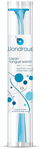Recyclable Materials (Wondrous Clean Tongue Wands. Micro-Groove Tongue Cleaner. Tongue Scraper. Made in USA from ED-Free Materials. Recyclable. Reusable Storage Case. Greener Tongue Cleaner. Slim Profile. (1-Pack))