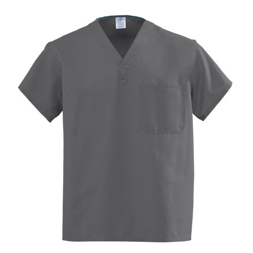 Medline AngelStat Unisex Reversible V-Neck Scrub Tops, 610ngtm-cm, 1 Pound