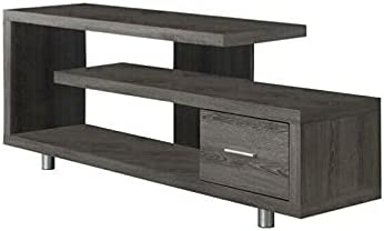 """HUIJK 60"""" Hollow-core TV Console in Dark Taupe"""