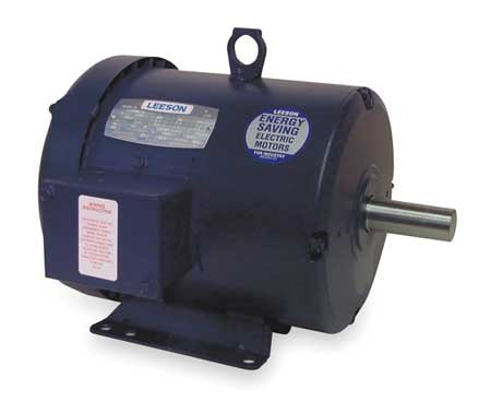 Leeson 131481.00 Special Voltage Motor, 3 Phase, 184T Frame, Rigid Mounting, 5HP, 3000 RPM, 220/380/440V Voltage, 50Hz - Motor Voltage 3 Phase