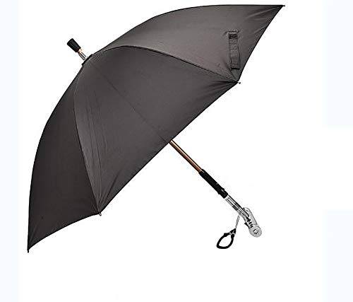 Smart Umbrella, Multi-Function Climbing Stick, Electric Power Alarm, USB Charging, Night Light, Suitable for The Elderly to Use Rainproof Sunscreen Outdoors