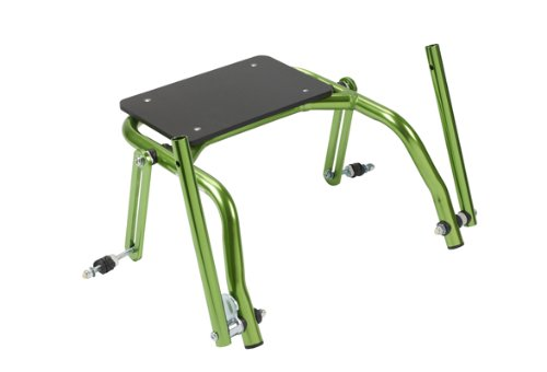 Nimbo posterior walker, accessory, seat attachment for junior walker, green