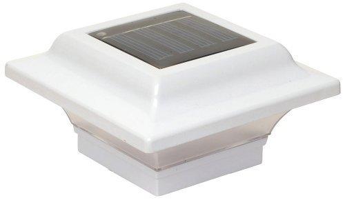 Classy Caps SL082W Aluminum Imperial Solar Post Cap, 2.5 x 2.5, White by Classy Caps