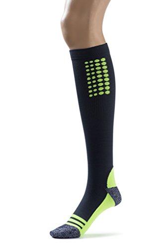 Silky Toes Compression Socks for Men & Women (20-30 mmHg) Athletic Fit for Running, Nurses, Shin Splints, Flight Travel & Maternity Pregnancy (Multi Pack- Grey/Blue/Black, Medium) by Silky Toes (Image #4)