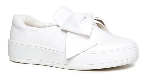 J. Adams Bow Platform Slip Ons - Trendy Flatform Shoes - Comfortable Closed Toe Sneakers - Wally]()