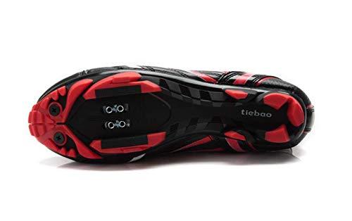 Tiebao Tiebao Tiebao  Damen Radsportschuhe Schwarz schwarz rot f7eef9