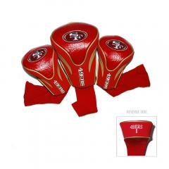 3 Pack Headcovers Golf (San Francisco 49ers NFL 3 Pack Contour Fit Golf Club Head Covers)