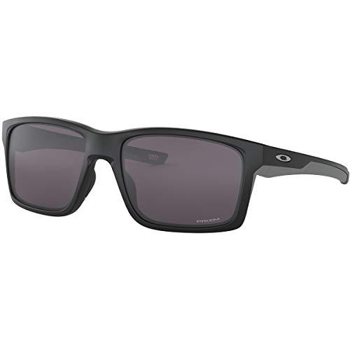 OO9264 Mainlink Rectangular Sunglasses, Matte Black/Prizm Grey, 61 mm