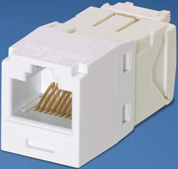 PANDUIT CJ688TGWH Mini-COM Module, CAT 6, UTP, 8 POS 8 WIR
