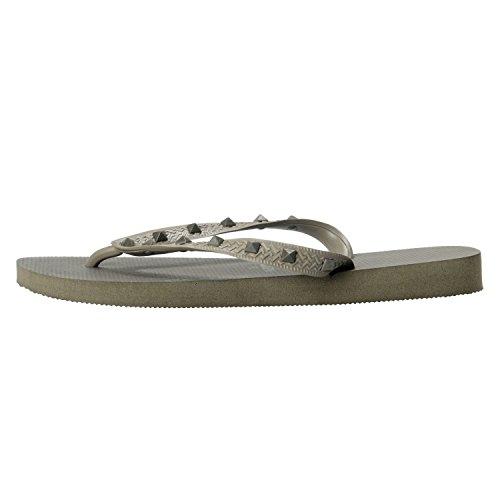 Gray Flip Shoes Women's Havaianas Rockstud By Valentino Gray Army Garavani Army Flops 1CPBqwnZw