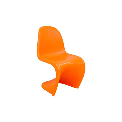 Ergo Furnishings Mid-Century Molded Plastic S Chair Dining Chair Office Chair, Orange