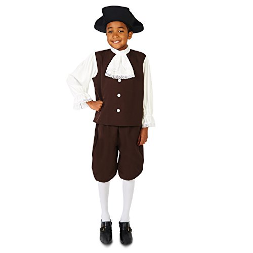 Colonial Boy with Jabot Child Costume L