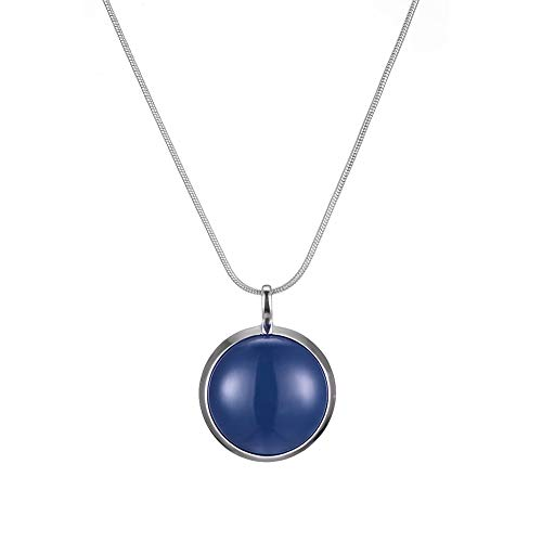 Long Tassel Pendant Necklaces for Women - Faux Pearl Necklace with Silver Chain, Fashion Jewelry for Lady (10-Navy - Chain Pendant Long Necklace
