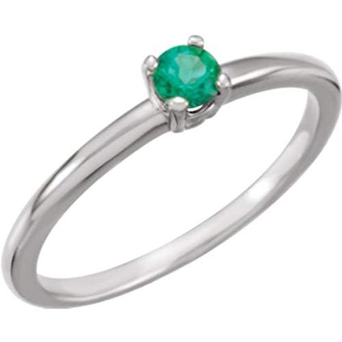 Chatham Created Emerald Ring - 9