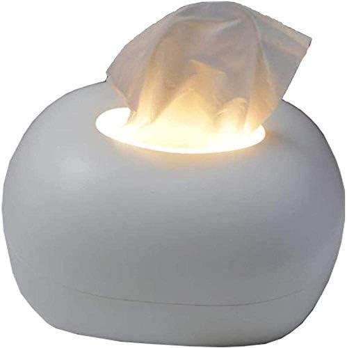 DHTOMC Multifunktionshalter/Nachtlicht, Umweltfreundliche Reinigungstuch Storage/Abdeckungen, Haus, Büro, Küche Serviettenspender 20.3x18x14cm Xping (Color : White/Night Light)