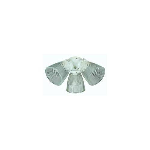 Concord Fans Y-396A-S-BB Lightkit 3-60W CB Clear Glass Turtle Fan Light -