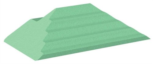 Coated Extremity Patient Positioning Sponge, Adult Finger Oblique Block, 10-1/4'' x 6'' x 3''