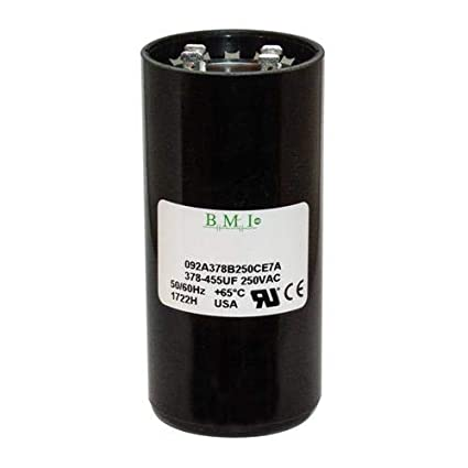 Pack of BMI Start Capacitor # 092A378B250CE7A 5 378-455 uF x 220//250 VAC Made in The USA