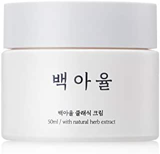 Baegayul Korean Cosmetics Cream Oriental Medicine Skullcap Herbal Natural Skincare Moisturizer for Dry Sensitive Warts Moles Troubles Pimples Wrinkles Purify Soothing Cooling BAEGAYUL Healing Cream 1.6oz