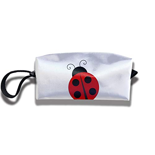 Cosmetic Bags With Zipper Makeup Bag Red Ladybug Middle Wallet Hangbag Wristlet Holder]()