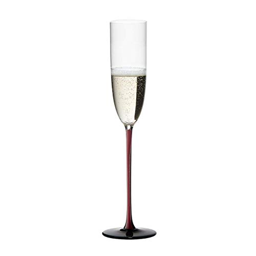 (Riedel Sommeliers Black Series Champagne Glass, Red/Black)