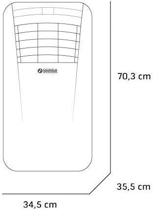 Olimpia Splendid Climatiseur Mobile 10.000 BTU/h, 2,64 kW, 01921 Dolceclima Compact 10 P, Gaz Naturel R290