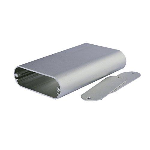 4.33 x 2.76 x 0.94 Eightwood Aluminum Enclosure Electronic Project Case Round Sides Tube Box LengthWidthHeight