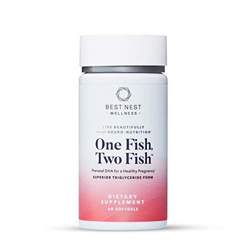 One Fish, Two Fish Prenatal DHA, Ultra Pure Triglyceride Omega 3 Fish Oil Supplement, Supports Baby