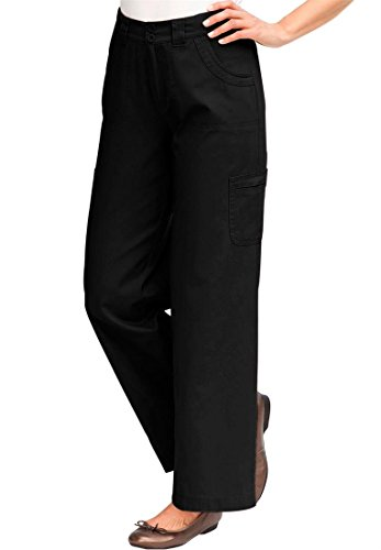 Women's Plus Size Petite Freedom Pants (Black,24 Wp)
