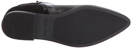 Nine West Women's Ovine Leather Boot, Black, 7 M US