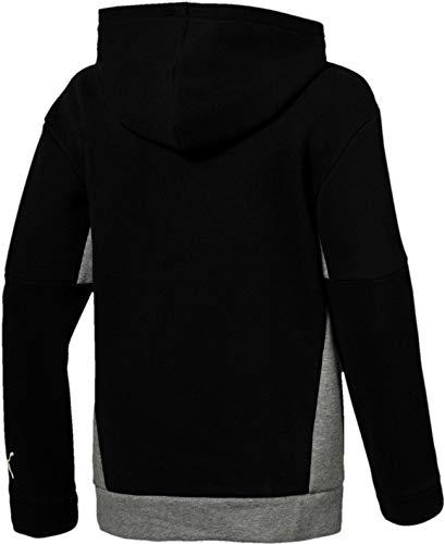 B Hoody Style Sweatshirt Black Garçon Cotton Puma 1qfSw8Ew6