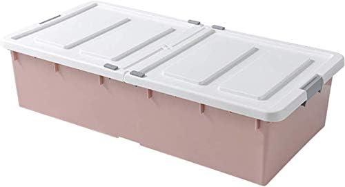 HESNHHAN Cajas de plástico con Tapas apilables Debajo de la Cama ...