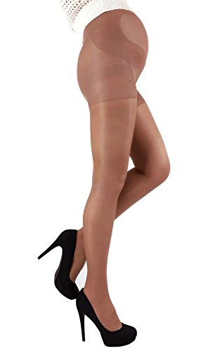 Mama Maternity Pantyhose Tights Semi Opaque 40 den Pregnancy Hosiery (Large/4, Light (Maternity Hose)