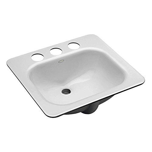 Cheap  KOHLER K-2890-8U-0 Tahoe Undercounter Bathroom Sink, White