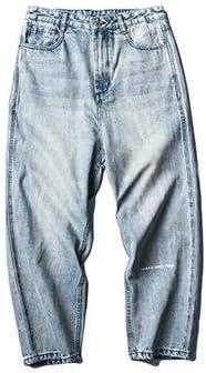 QYYワイドパンツ メンズ デニム ジーンズ ゆったり デニムパンツ ストレート ロングパンツ 綿 カジュアル ズボン おしゃれ 無地 ジーパン 大きいサイズ