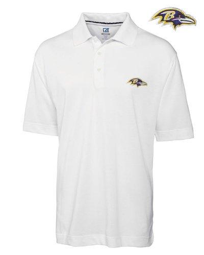NFL Baltimore Ravens Men's DryTec Championship Polo, White, Medium