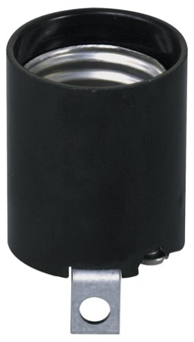 Leviton 3352-F 1-Circuit 1-Piece Keyless Lamp Holder, 660 W, Incandescent, Medium, Black ()