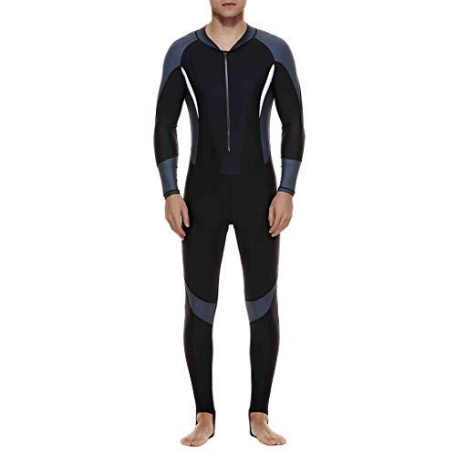MILIMIEYIK Unisex Short Sleeve Neoprene Wetsuit Men for Surfing One Piece Triathlon Scuba Diving Spearfishing Wetsuit Surfing Gray (Triathlon Tankini)